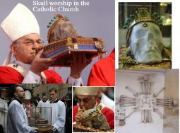 Skull worship in the catholic church