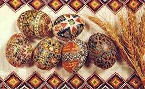 EASTER, PAINTED EGGS