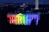RAINBOW COLORS ON WHITE HOUSE, END IS NEAR2