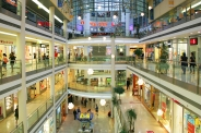 Mall interior in Prague, Czech Republic.