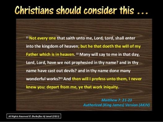 MATTHEW 7, 21 TO 23, KJV